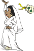 +marry+marriage+wedlock+matrimony+wedding+tossing+bouquet+ clipart
