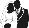 +marry+marriage+wedlock+matrimony+wedding+wedding+couple+partial+silhouette+ clipart