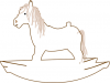 +toy+play+normal+rocking+horse+outline+ clipart