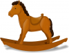 +toy+play+normal+rocking+horse+wooden+ clipart