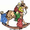 +toy+play+normal+toddlers+on+a+rocking+horse+ clipart