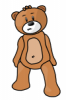+toy+play+teddy+bear+ clipart