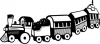 +toy+play+toy+train+BW+ clipart