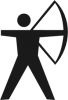+sports+archery+bow+arrow+archery+2+ clipart