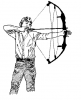 +sports+archery+bow+arrow+normal+archer+1+ clipart