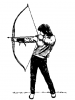+sports+archery+bow+arrow+normal+archer+ clipart