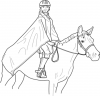 +sports+horse+equestrian+normal+horse+and+rider+ clipart