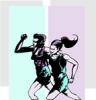 +sports+run+running+walking+exercise+Jogging+Couple+5+ clipart