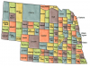 +state+territory+region+map+normal+US+State+Counties+Nebraska+ clipart