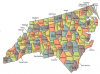 +state+territory+region+map+normal+US+State+Counties+North+Carolina+ clipart