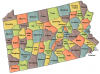 +state+territory+region+map+normal+US+State+Counties+Pennsylvania+ clipart