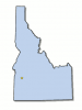 +state+territory+region+map+normal+US+State+idaho+ clipart