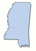 +state+territory+region+map+normal+US+State+mississippi+ clipart