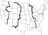 +state+territory+region+map+normal+time+zones+US+ clipart