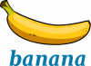 +fruit+food+produce+banana+label+ clipart