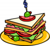 +meal+food+nourishment+feast+eat+sandwich+ clipart