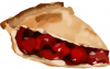 +sweet+dessert+snack+treat+Slice+Cherry+Pie+ clipart