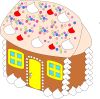 +sweet+dessert+snack+treat+sweet+house+ clipart