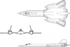 +military+airplane+plane+normal+SR+71B+Blackbirds+ clipart