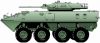 +transportation+military+army+vehicle+LAV25+ clipart