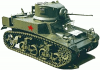 +transportation+military+army+vehicle+M3+Stuart+ clipart
