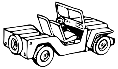 transportation military army vehicle jeep 2  clipart