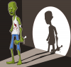+zombie+monster+evil+scary+shadow+ clipart