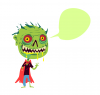 +zombie+monster+evil+scary+speak+head+ clipart